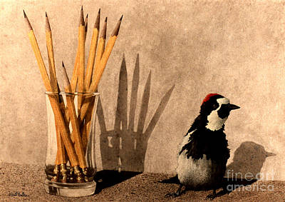 Woodpecker Painting - the Peckerwood Steno School... by Will Bullas