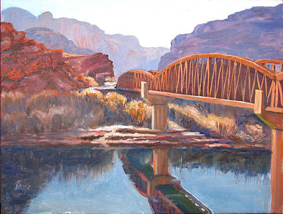 Painting - The Pedestrian Bridge by Page Holland