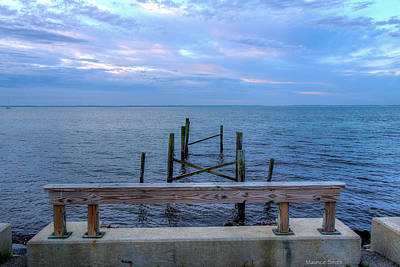 The Pier That Once Was Art Print by Maurice Smith