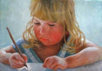 Painting - The Pencil by Janet McGrath