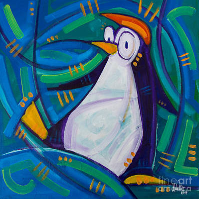 The Penguin Art Print by Michael Ciccotello