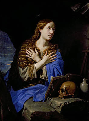Madeleine Photograph - The Penitent Magdalene, 1657 Oil On Canvas by Philippe de Champaigne