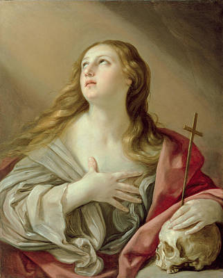 St Mary Magdalene Painting - The Penitent Magdalene by Guido Reni