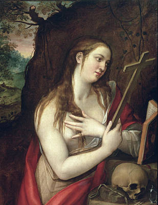 St Mary Magdalene Painting - The Penitent Magdalene by Luis de Carbajal