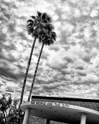 City Hall Photograph - The People Are The City Palm Springs City Hall by William Dey