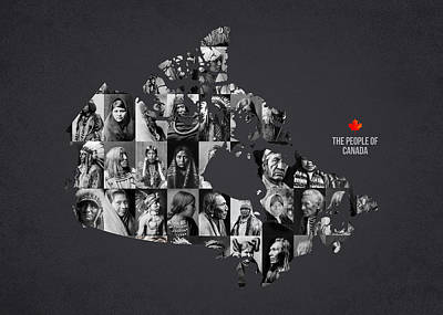 Columbia Mixed Media - The People Of Canada by Aged Pixel