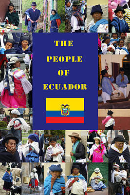 Photograph - The People Of Ecuador Collage by Kurt Van Wagner