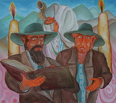Talmud Painting - The People Of The Book by Andrei Klenov