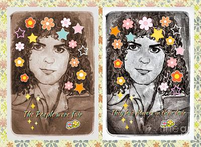 Marc Bolan Mixed Media - The People Were Fair by Joan-Violet Stretch
