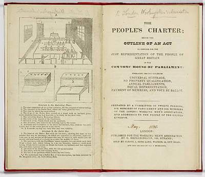 Charters Photograph - The People's Charter Frontispiece by British Library