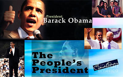 Michelle Obama Photograph - The People's President Still by Terry Wallace