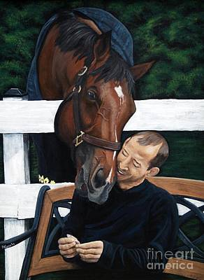 Painting -  Afleet Alex W/jeremy Rose   The Peppermint      by Pat DeLong