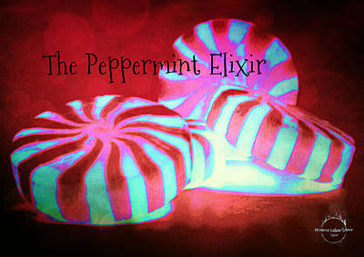 Digital Art - The Peppermint Elixir by Absinthe Art By Michelle LeAnn Scott