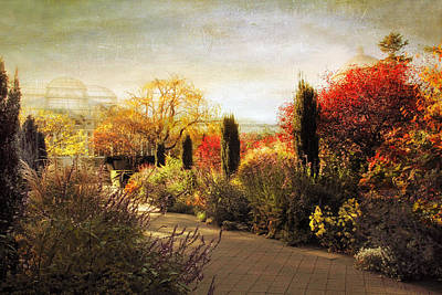 Rural Digital Art - The Perennial Garden by Jessica Jenney