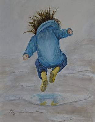 Painting - The Perfect Puddle... Jump by Kelly Mills