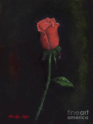 Painting - The Perfect Rose by Becky Lupe