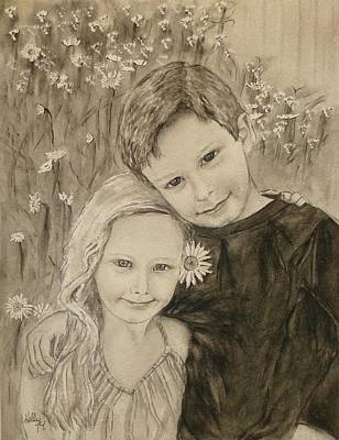 Painting - The Perfect Siblings by Kelly Mills