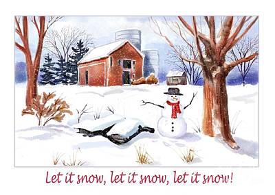 Digital Art - The Perfect Snowman by Joan A Hamilton