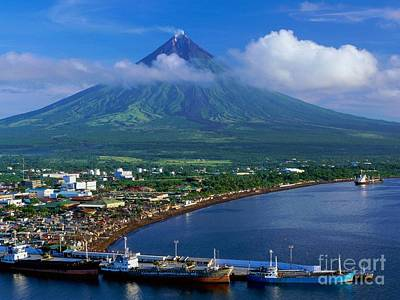Mayon Photograph - The Perfect Volcano by Pg Reproductions