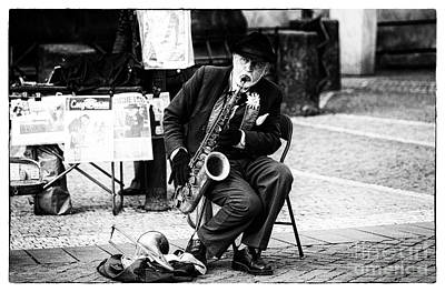 Saxophone Photograph - The Performer by John Rizzuto