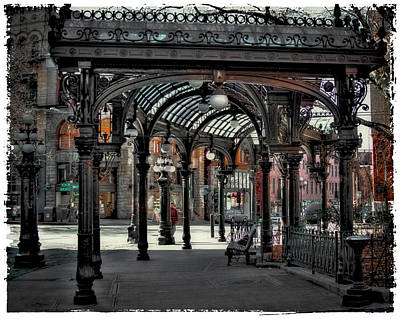 Photograph - The Pergola - Pioneer Square In Seattle by David Patterson