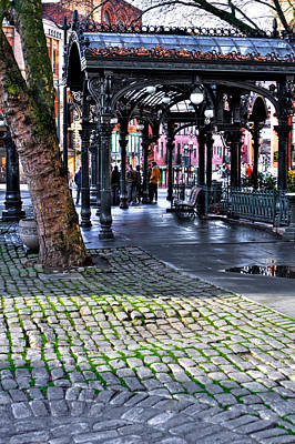 Photograph - The Pergola - Pioneer Square - Seattle Washington by David Patterson