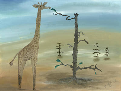 Giraffe Painting - The Perks Of Procuring Perfect Posture by Jenny Sampson