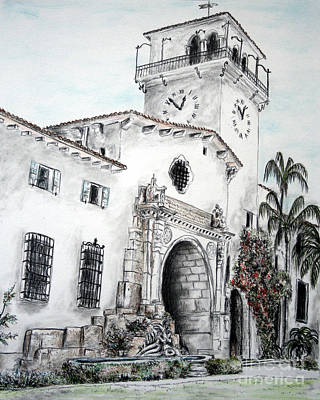 Painting - The Perspective Of The Building by Danuta Bennett
