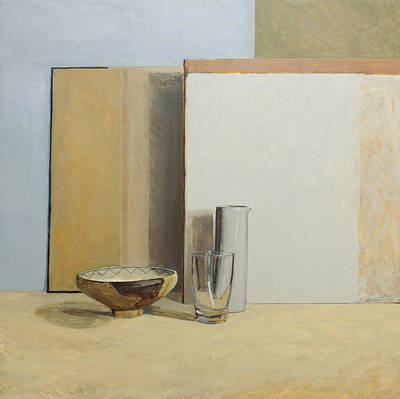 Negative Space Painting - The Peruvian Bowl  by William Packer