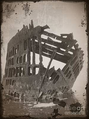 Mixed Media - The Peter Iredale 1 by Chalet Roome-Rigdon