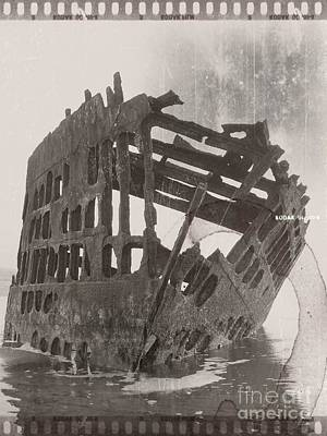 Mixed Media - The Peter Iredale 4 by Chalet Roome-Rigdon