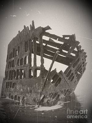 Mixed Media - The Peter Iredale 5 by Chalet Roome-Rigdon