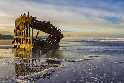 Laura James Photograph - The Peter Iredale by Laura James