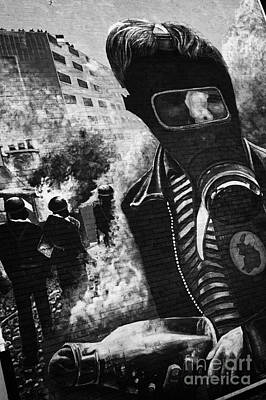The Petrol Bomber At The Battle Of The Bogside Part Of The Peoples Gallery Murals In Rossville Street Of The Bogside Area Of Derry Londonderry Northern Ireland Art Print
