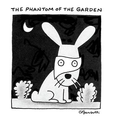 Drawing - The Phantom Of The Garden by Charles Barsotti