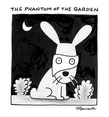 The Phantom Of The Garden Art Print