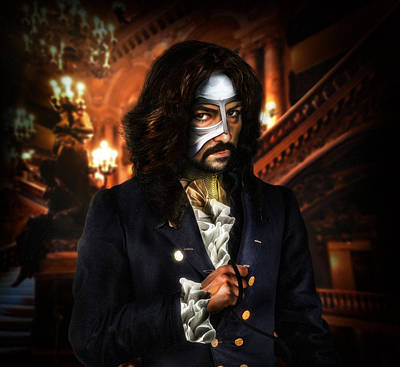 Mistery Digital Art - The Phantom Of The Opera by Alessandro Della Pietra