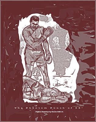 Cassius Clay Digital Art - The Phantom Punch Of 65 by Christopher Korte