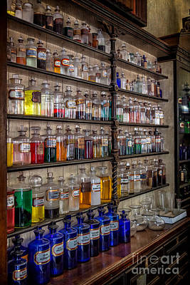 Medicine Bottles Photograph - The Pharmacy by Adrian Evans