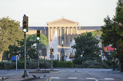 The Philadelphia Art Museum From The Parkway Art Print