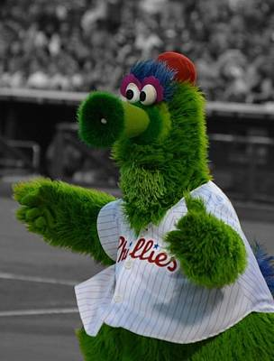 The Phillie Phanatic Art Print by David Ziegler