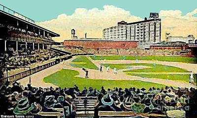 Painting - The Phillies Baker Bowl In Philadelphia Pa In 1914 by Dwight Goss
