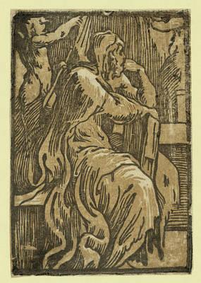 The Philosopher, Between 1530 And 1550. Chiaroscuro Woodcut Art Print