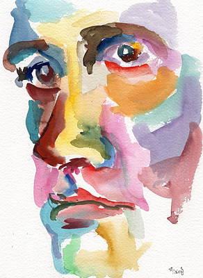 Miles Davis Oil Painting - The Philosopher by Marina Sotiriou
