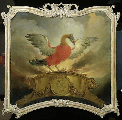 Phoenix Drawing - The Phoenix, Cornelis Troost by Litz Collection