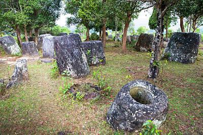 The Phonsavan Plain Of Jars In Laos Print by Micah Wright