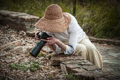 Woman With Cameras Photograph - The Photographer by Linda Unger