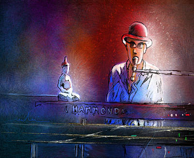 Art Miki Digital Art - The Pianist 02 by Miki De Goodaboom