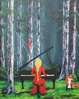 Painting - The Pianist In The Woods by Patricia Olson