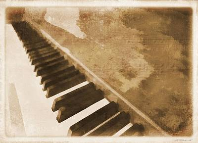 Chord Mixed Media - The Piano by Dan Sproul
